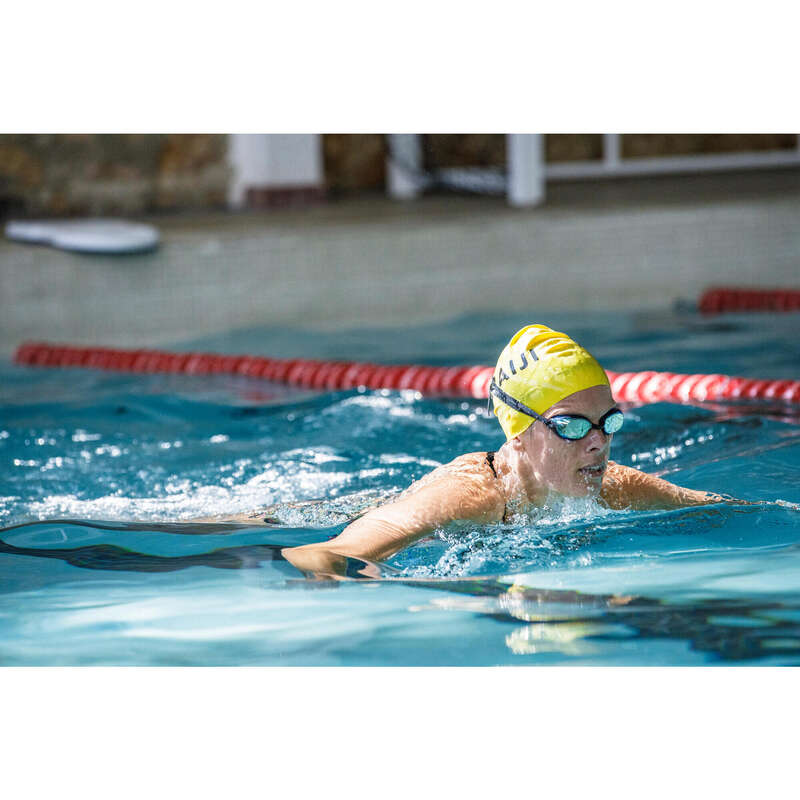 ШАПОЧКИ И СРЕДСТВА ЗАЩИТЫ ДЛЯ ПЛАВАНИЯ Плавание в бассейне - ШАПОЧКА Д/ПЛАВ. СИЛИК. ЖЕЛТАЯ NABAIJI - Плавание в бассейне