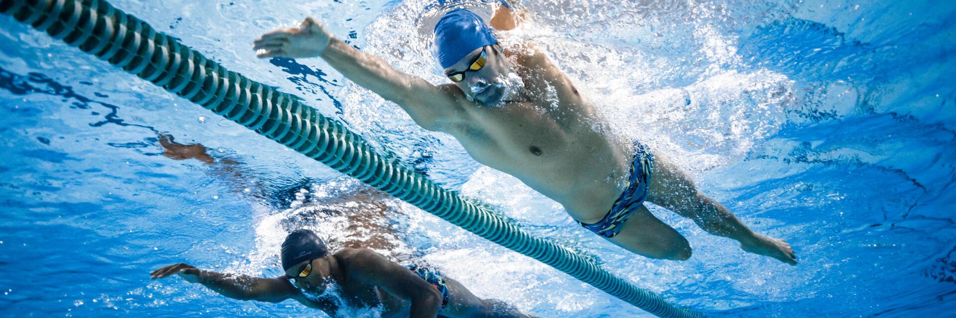 Equipement de nage en natation (maillot de bain, lunettes, bonnet de bain...)