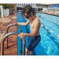 CHLAPECKÉ PLAVKY Plavání - CHLAPECKÉ PLAVKY 100 ČERNÉ NABAIJI - Plavky do bazénu