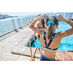 Chouchou de natation cheveux fille bleu