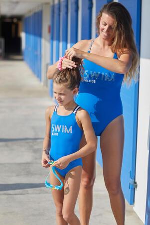 Girl's 1-piece Swimsuit Vega - Blue