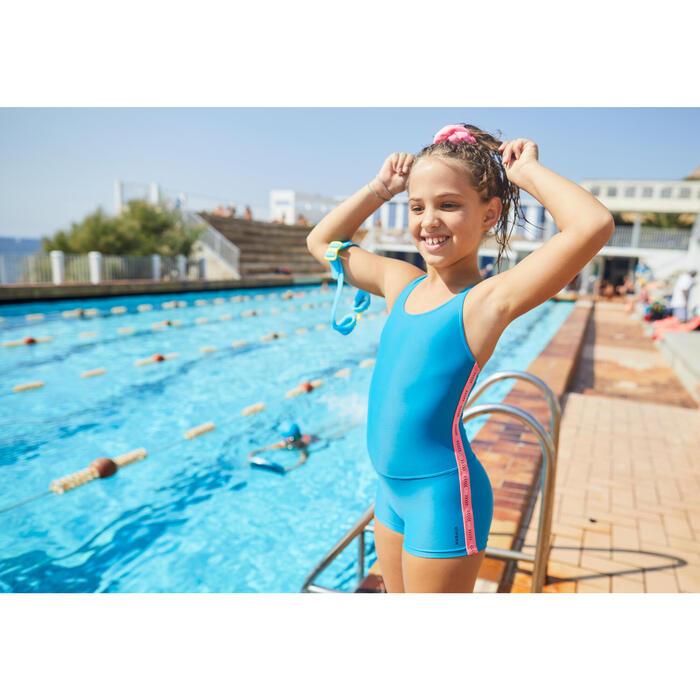 Chouchou de natation cheveux fille rose pastel