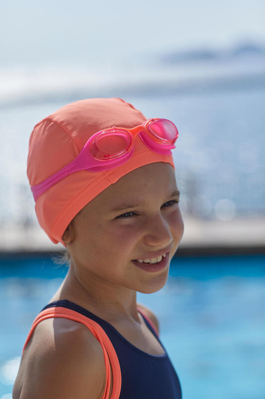 Kids' Swimming Goggles XBASE 100 - Pink Coral