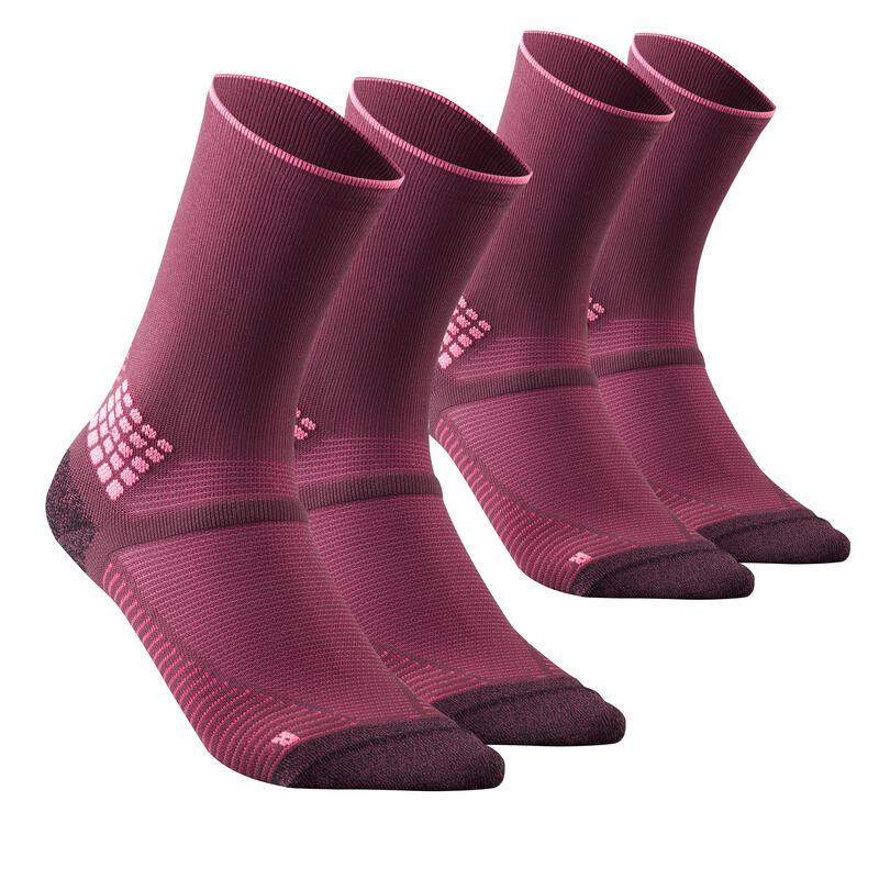 Chaussettes randonnée - MH500 High Bordeaux x2 paires