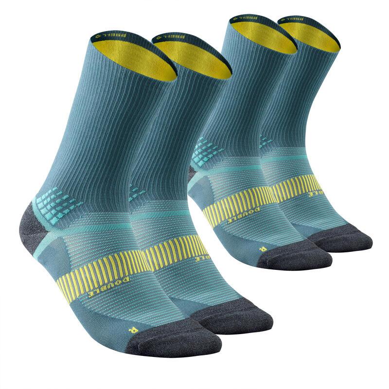 Hiking socks - MH520 Double High x2 pairs Blue