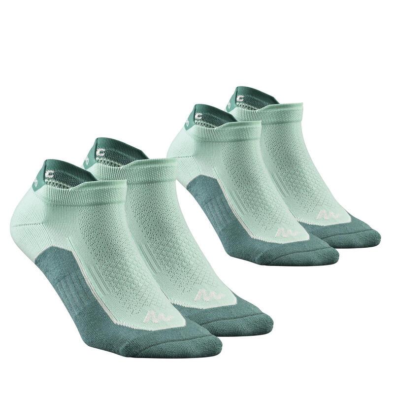 Chaussettes randonnée nature nouveau vert- NH500 Low - X 2 paires