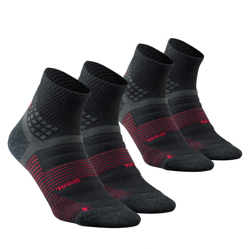 Chaussettes randonnée - MH900 Mid noire x2 paires