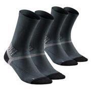 Hiking socks - MH500 High x2 pairs Black