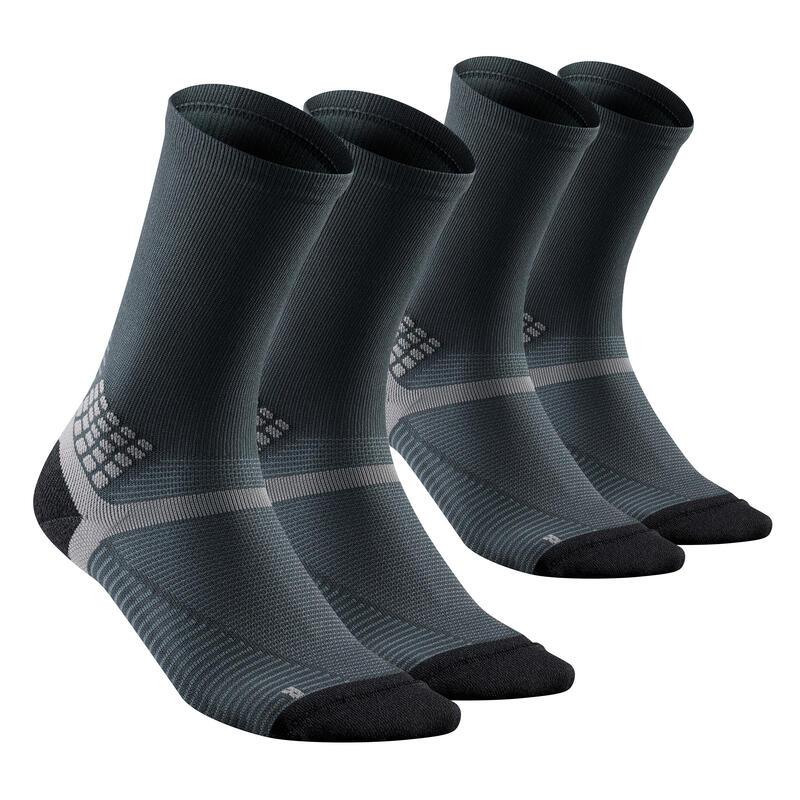 Chaussettes randonnée - MH500 High Noire x2 paires