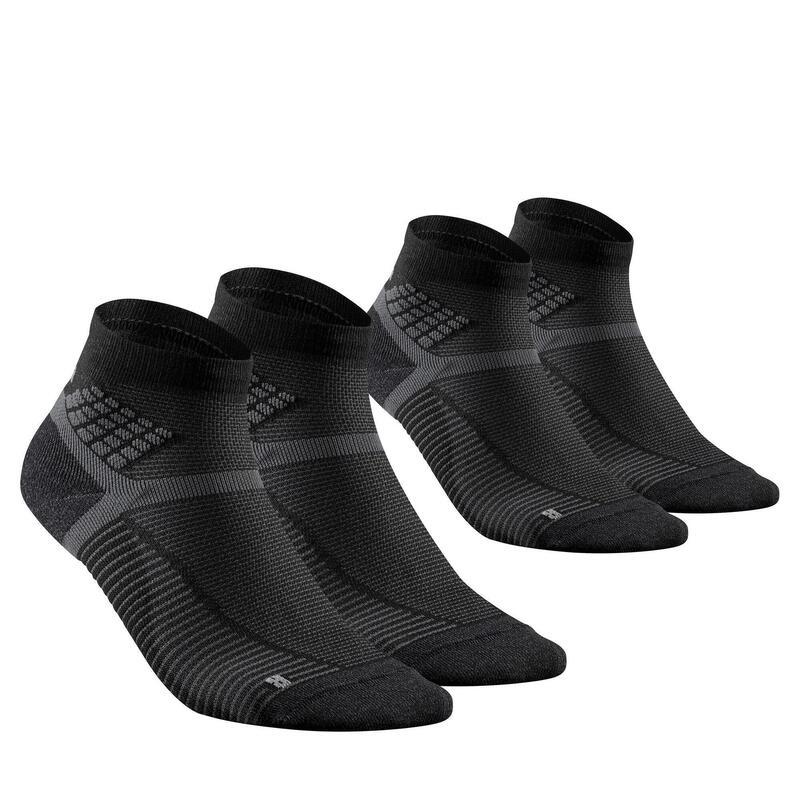 Chaussettes randonnée - MH500 Mid noire x2 paires