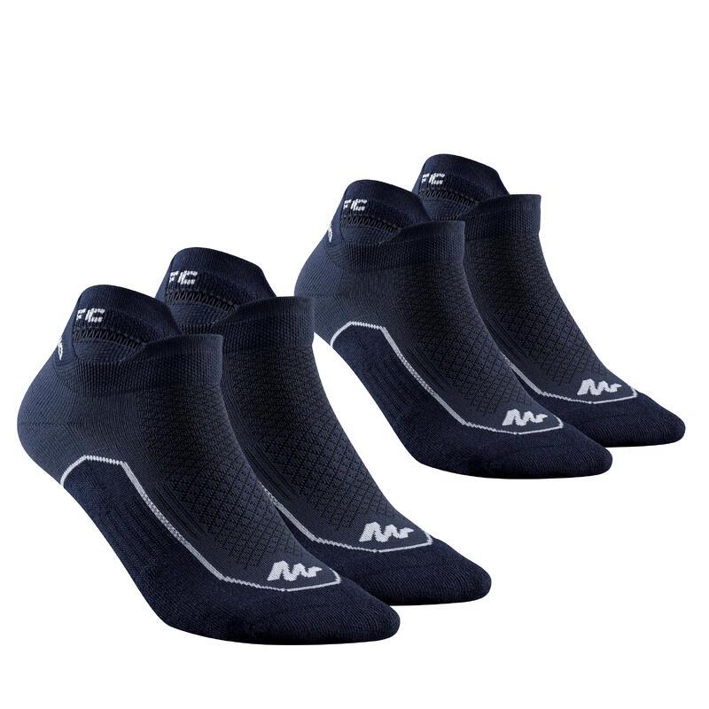 Chaussettes randonnée nature bleu- NH500 Low - X 2 paires