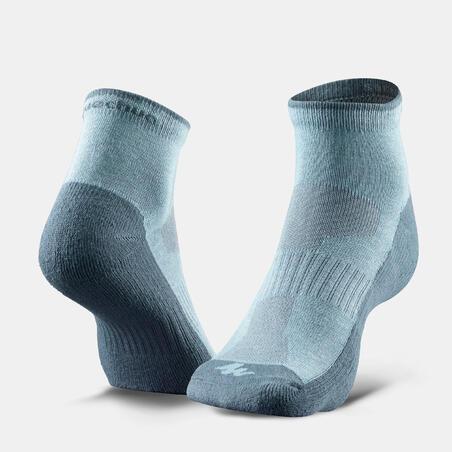Country walking socks - NH 100 Mid - X 2 pairs - Blue