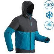 Men's Snow Jacket Warm & Waterproof SH100 X-WARM - Blue/Carbon Grey