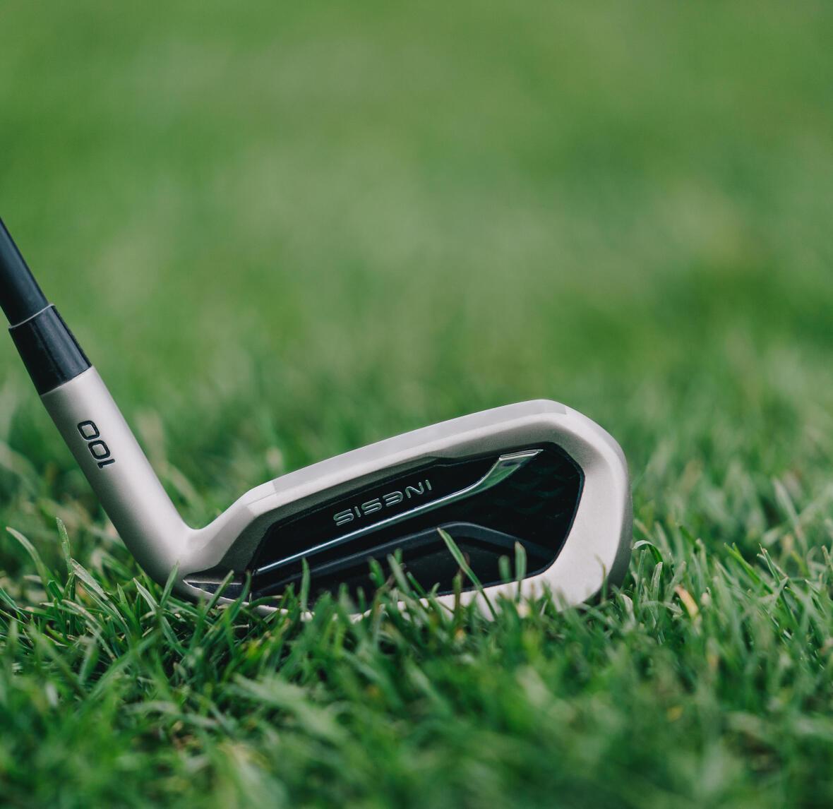 Iron club on a golf course