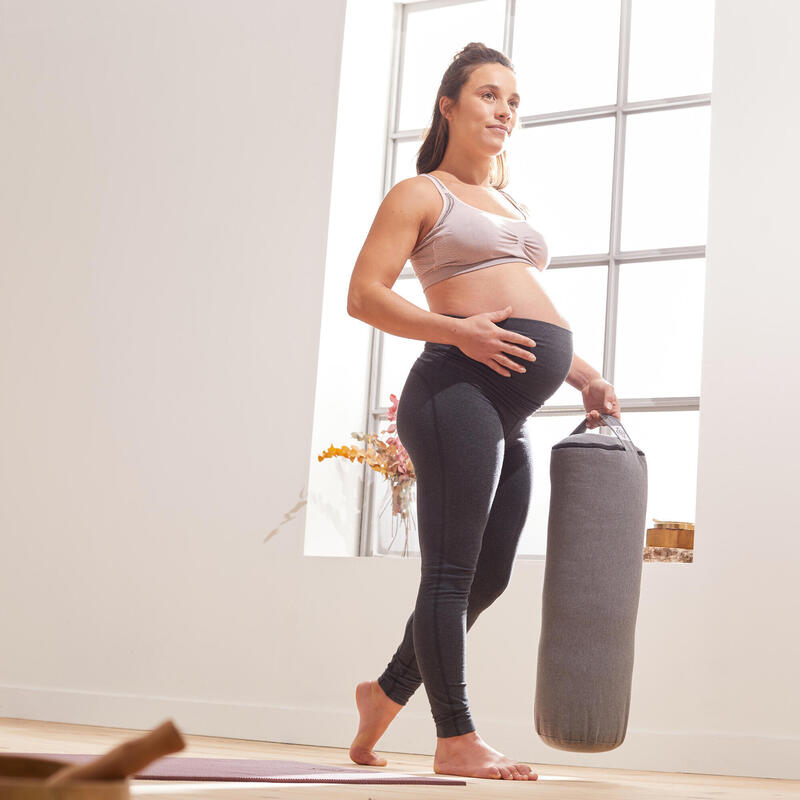 Leggings Premamá Embarazada Yoga Ecofriendly Gris oscuro