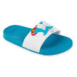 男童款涼鞋SLAP 550-藍色/鯊魚款