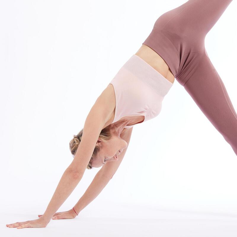 Long Dynamic Yoga Sports Bra - Pink/Orange/Silver