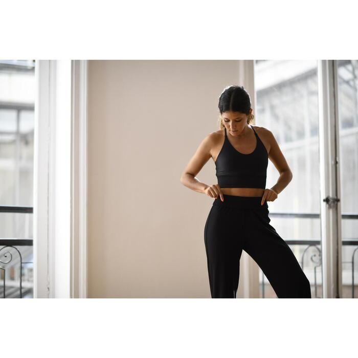 Tanzhose Modern Dance fließend Damen schwarz