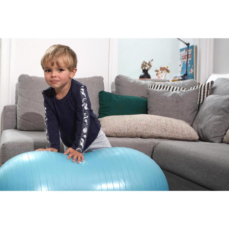 Camiseta de manga larga azul marino Gimnasia Infantil niños