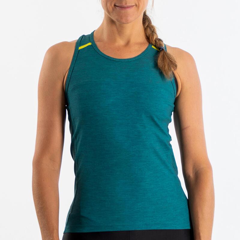 Women's Cycling Tank Top 500 - Green