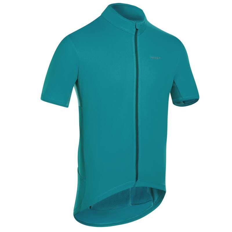 PÁNSKÉ OBLEČENÍ NA SILNIČNÍ CYKLISTIKU DO TEPLÉHO POČASÍ Cyklistika - DRES RC500 ZELENÝ TRIBAN - Cyklistické oblečení