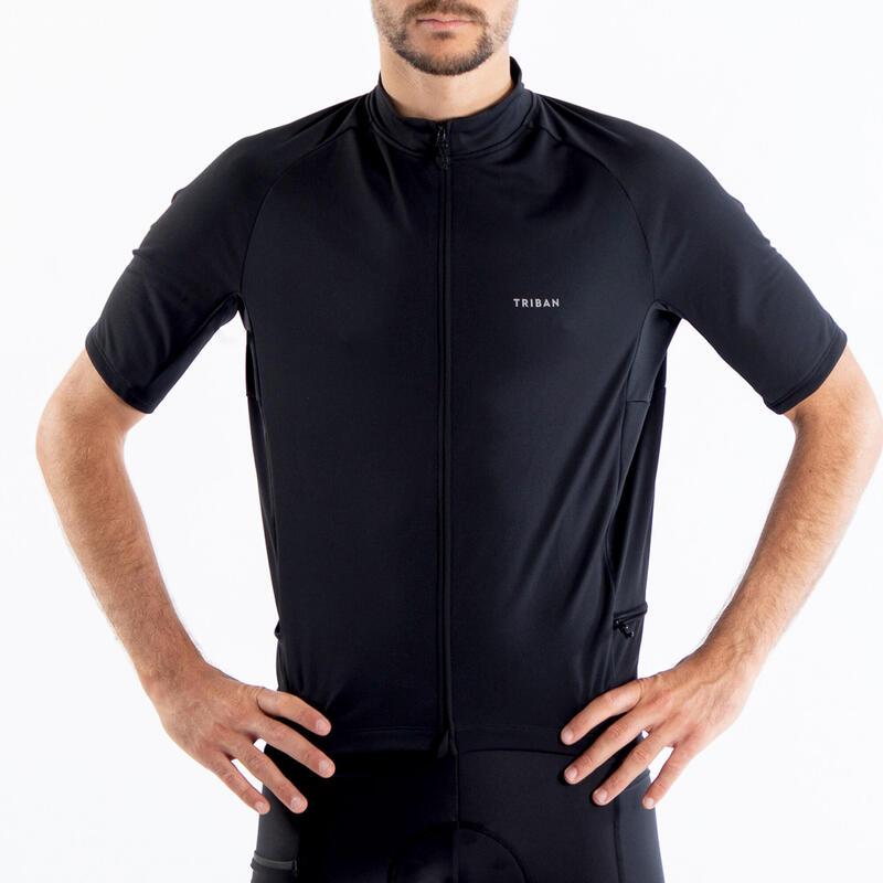 Maglia ciclismo uomo RC100 nera