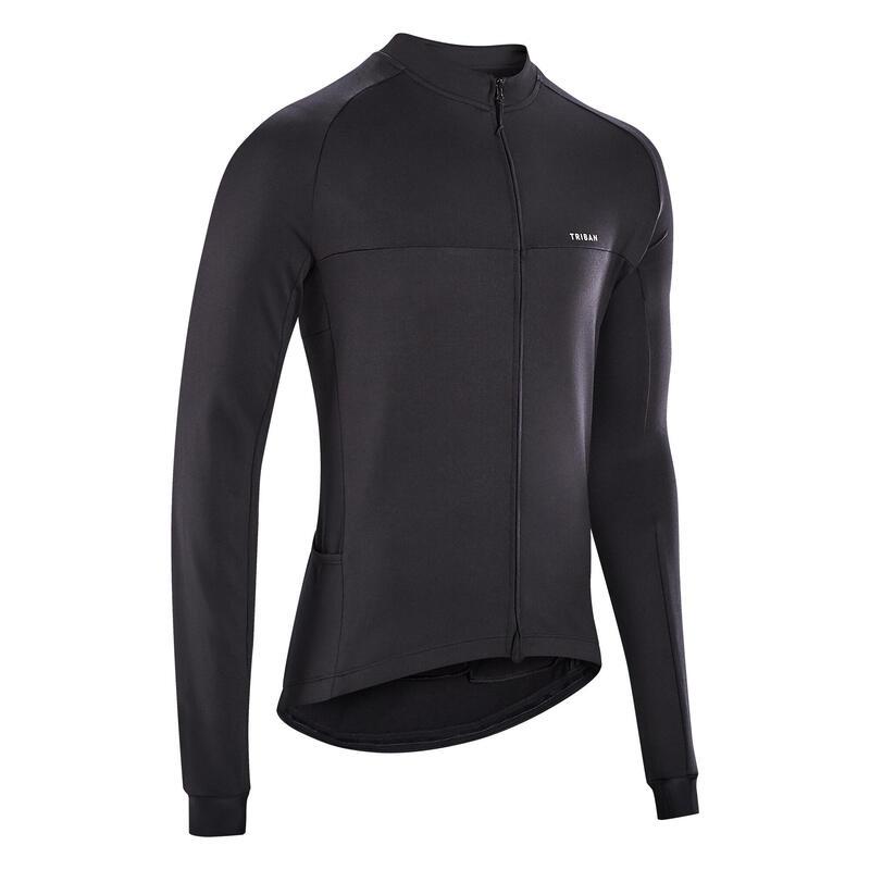 Fietsshirt met lange mouwen voor heren racefietsen RC100 zwart
