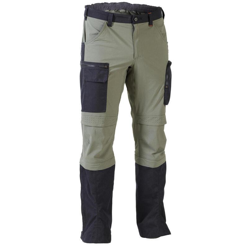 Pantalon chasse léger, résistant et respirant Steppe 920 Guêtres Vert