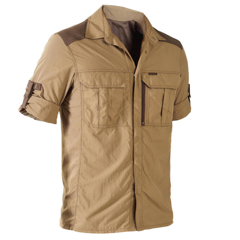Chemise manches longues légère et respirante chasse 520 marron