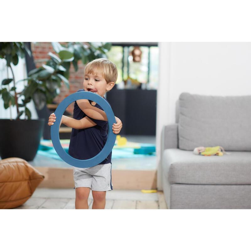 Camiseta ligera transpirable azul marino GIMNASIA INFANTIL niños