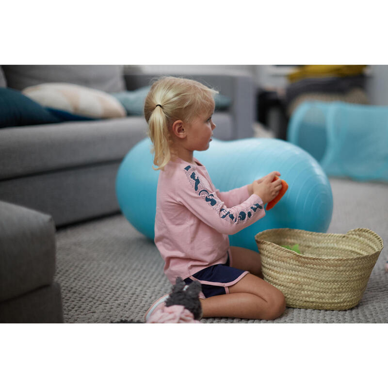 Camiseta de manga larga rosa Gimnasia Infantil niños