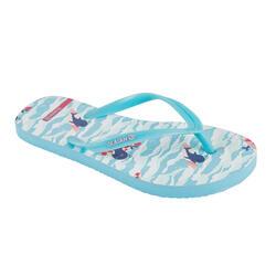 女童款夾腳拖鞋120-海豚款