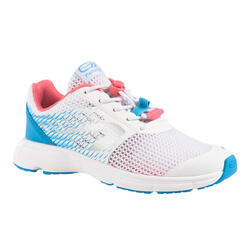 KID'S ATHLETICS SHOES - AT 300 BREATH - WHITE, BLUE AND PINK