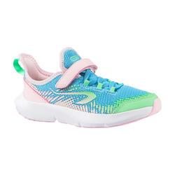 chaussures running enfant AT FLEX RUN Scratch bleues et roses