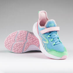 Kids' Running Shoes AT Flex Run Rip-tab - blue and pink