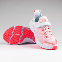 Kids' Running Shoes AT Flex Run Rip-tab - pink and grey