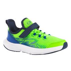 Laufschuhe Leichtathletik Klettverschluss AT Flex Run Kinder grün/blau