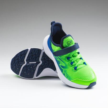 Baskets flexibles enfant - AT FLEX  vertes et bleues du 29 au 34