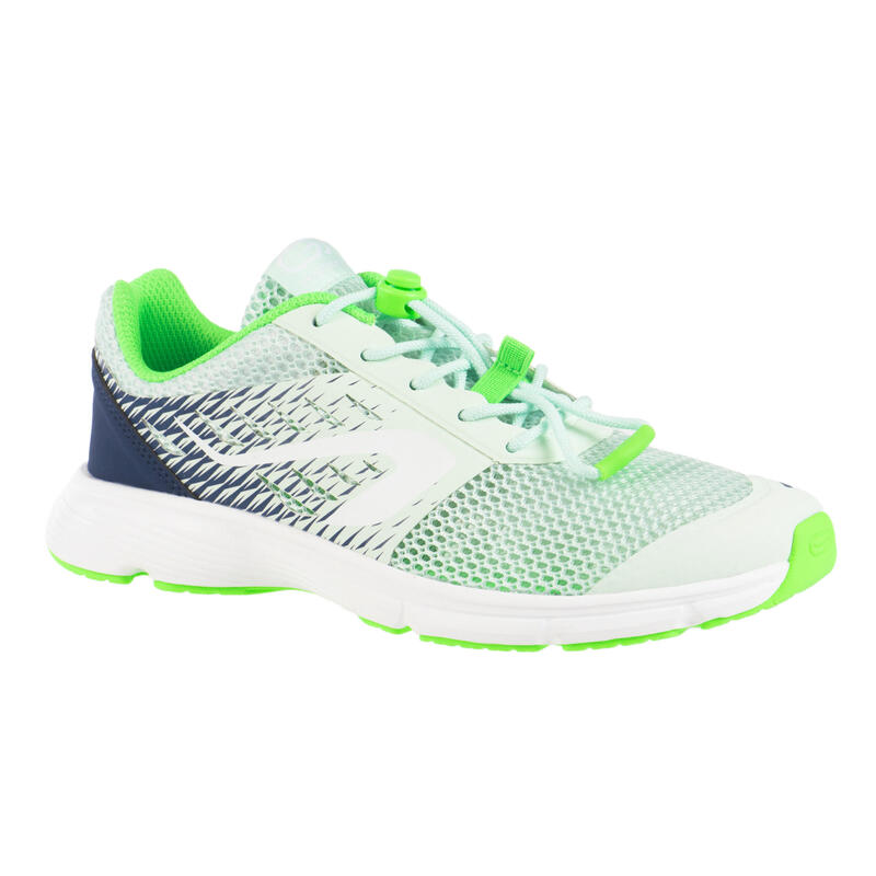 Kids' Running and Athletics Shoes AT Breath - light green and navy blue