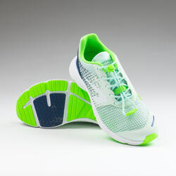 Laufschuhe Leichtathletik AT Breath Kinder hellgrün/marineblau