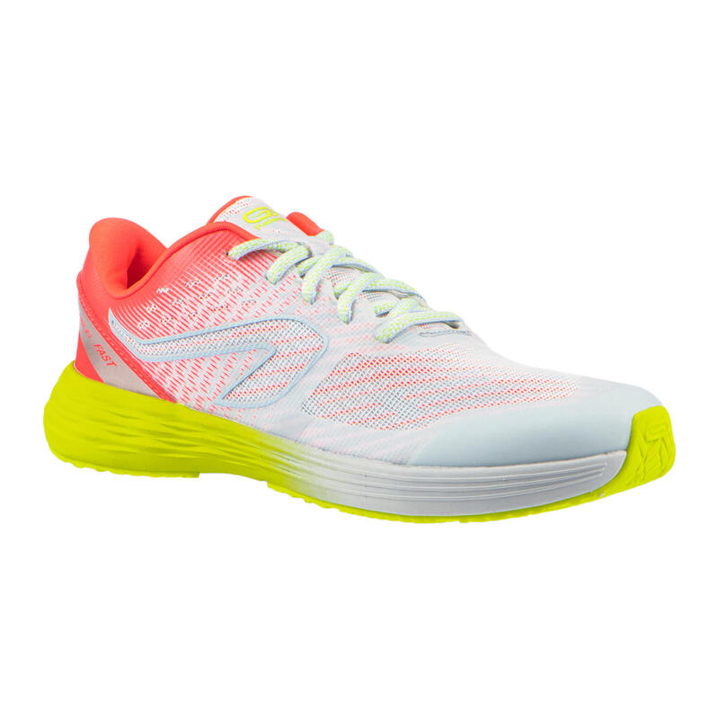 Kids' Athletics Shoes AT 500 Kiprun Fast - neon grey, pink and yellow