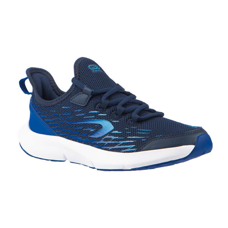 Chaussures de running enfant AT Flex Run bleues vif et bleues ciel à lacets
