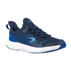 Laufschuhe Leichtathletik Schnürsenkel AT Flex Run Kinder blau/himmelblau