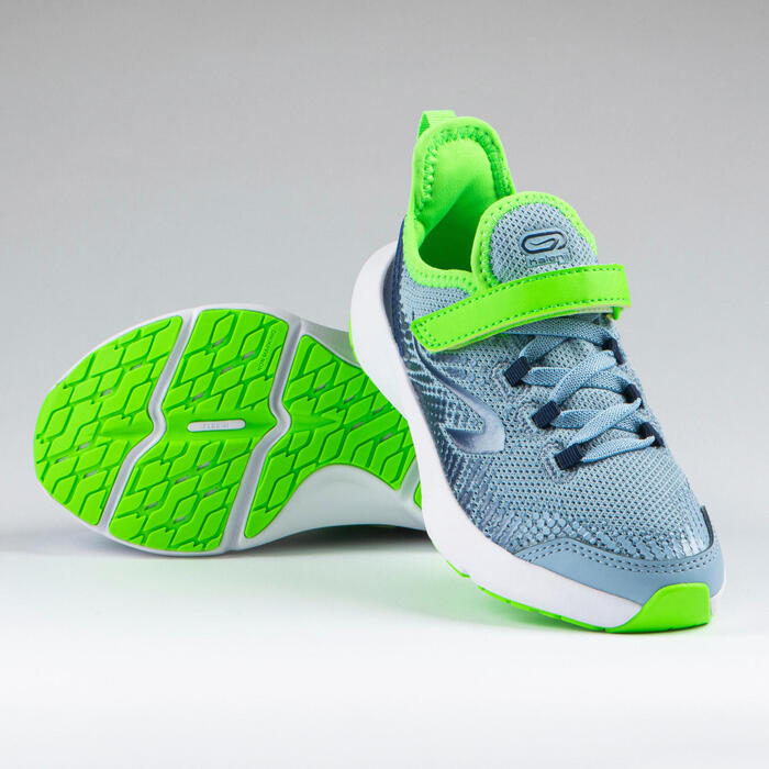 Kids' Running Shoes AT Flex Run Rip-tab - denim blue and green
