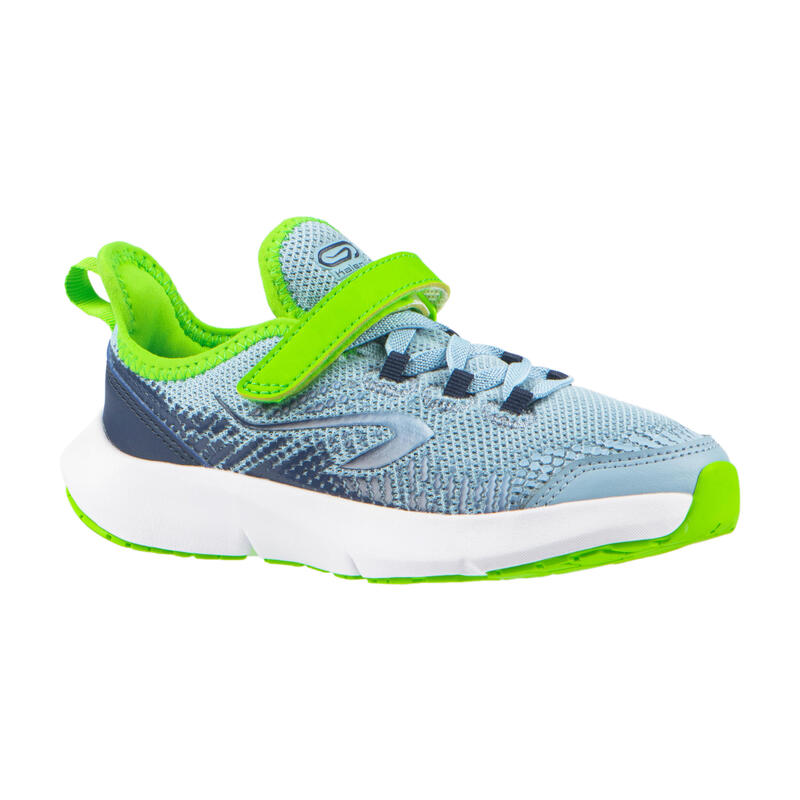 chaussures running enfant AT FLEX RUN Scratch bleues denim et vertes