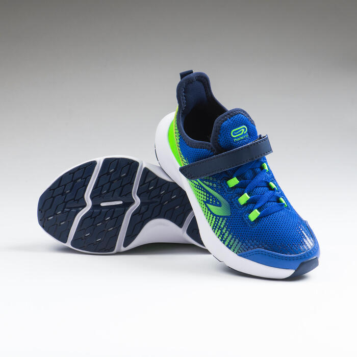 Kids Running Shoes At Flex Run Electric Blue And Green