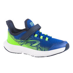 KIDS' RUNNING SHOES - AT FLEX RUN RIPTAB - ELECTRIC BLUE AND GREEN