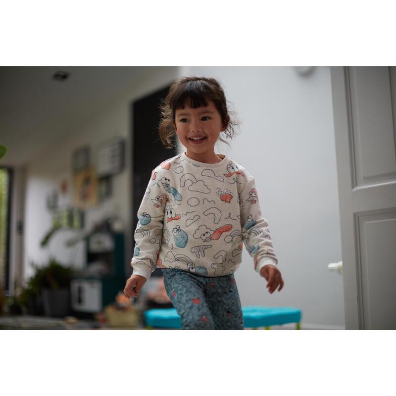 Sudadera Decat'oons estampado beige Gimnasia Infantil niños