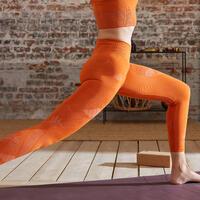 Seamless 7/8 dynamic yoga leggings