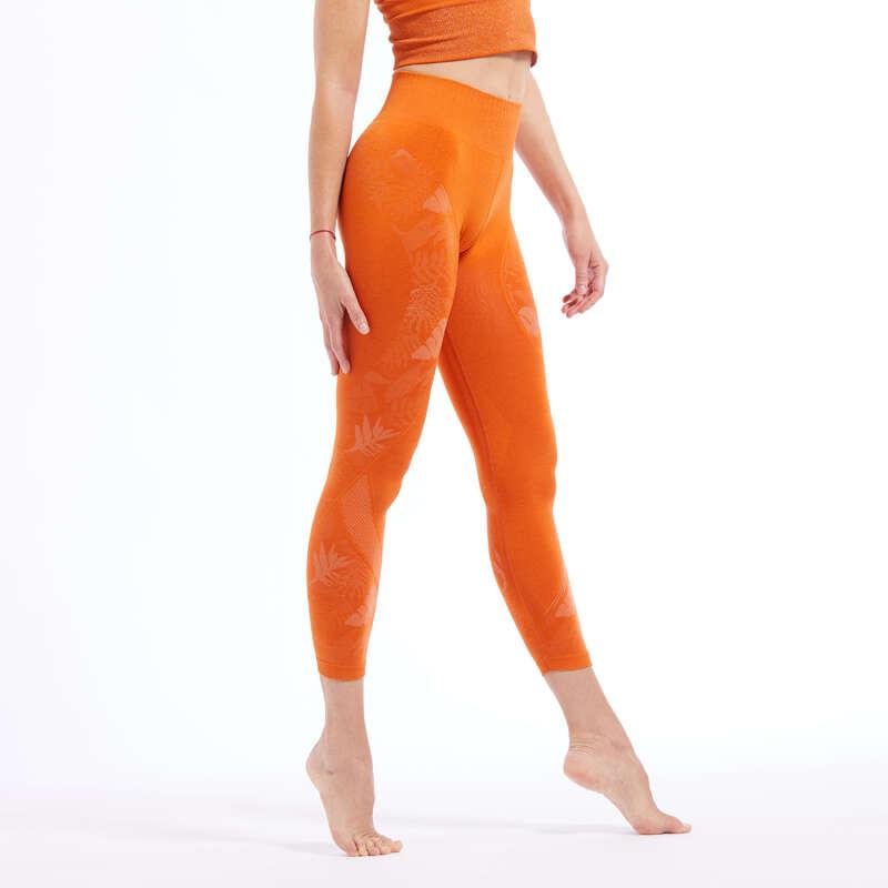 Bayan ince wellness kıyafetleri Yoga - 7/8 DİKİŞSİZ TAYT DOMYOS - All Sports
